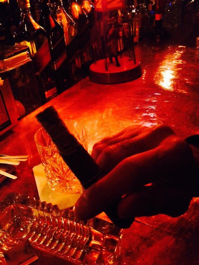 Scotch and a cigar at Hudson Bar & Books
