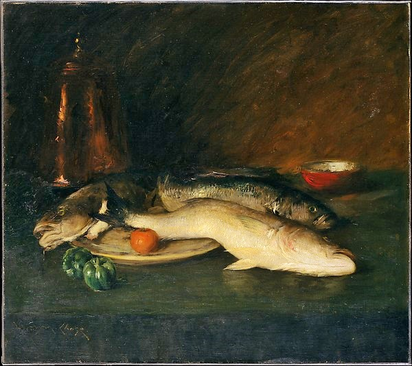 Still Life Fish - Wm. Merritt Chase (The Met)