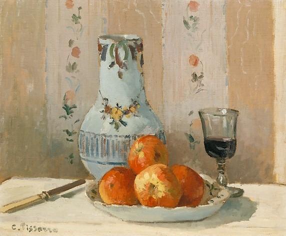 Still Life with Apples & Pitcher - Pissarro