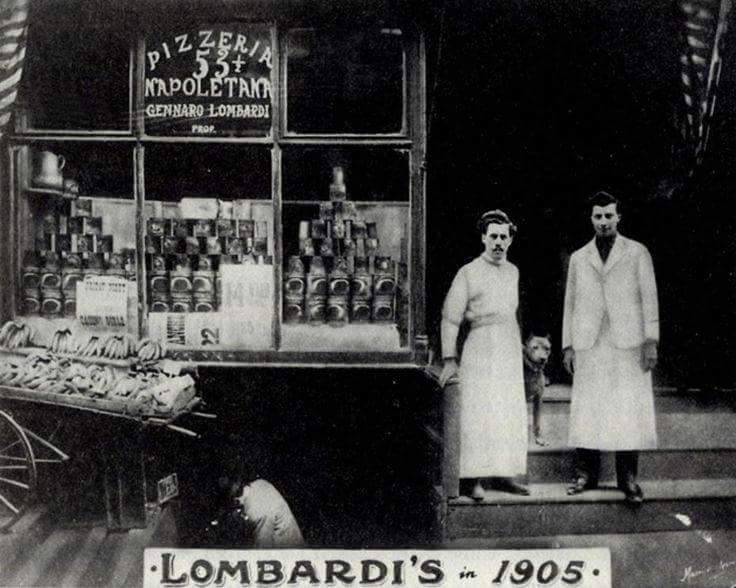 Lombardi's - the oldest pizzeria in America, still on Spring Street in Manhattan http://www.firstpizza.com/home.html