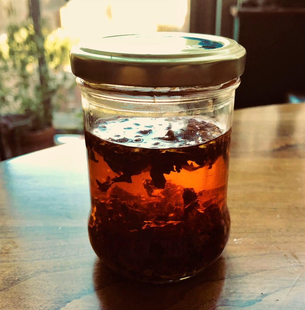 A Chili-Olive Oil Infusion