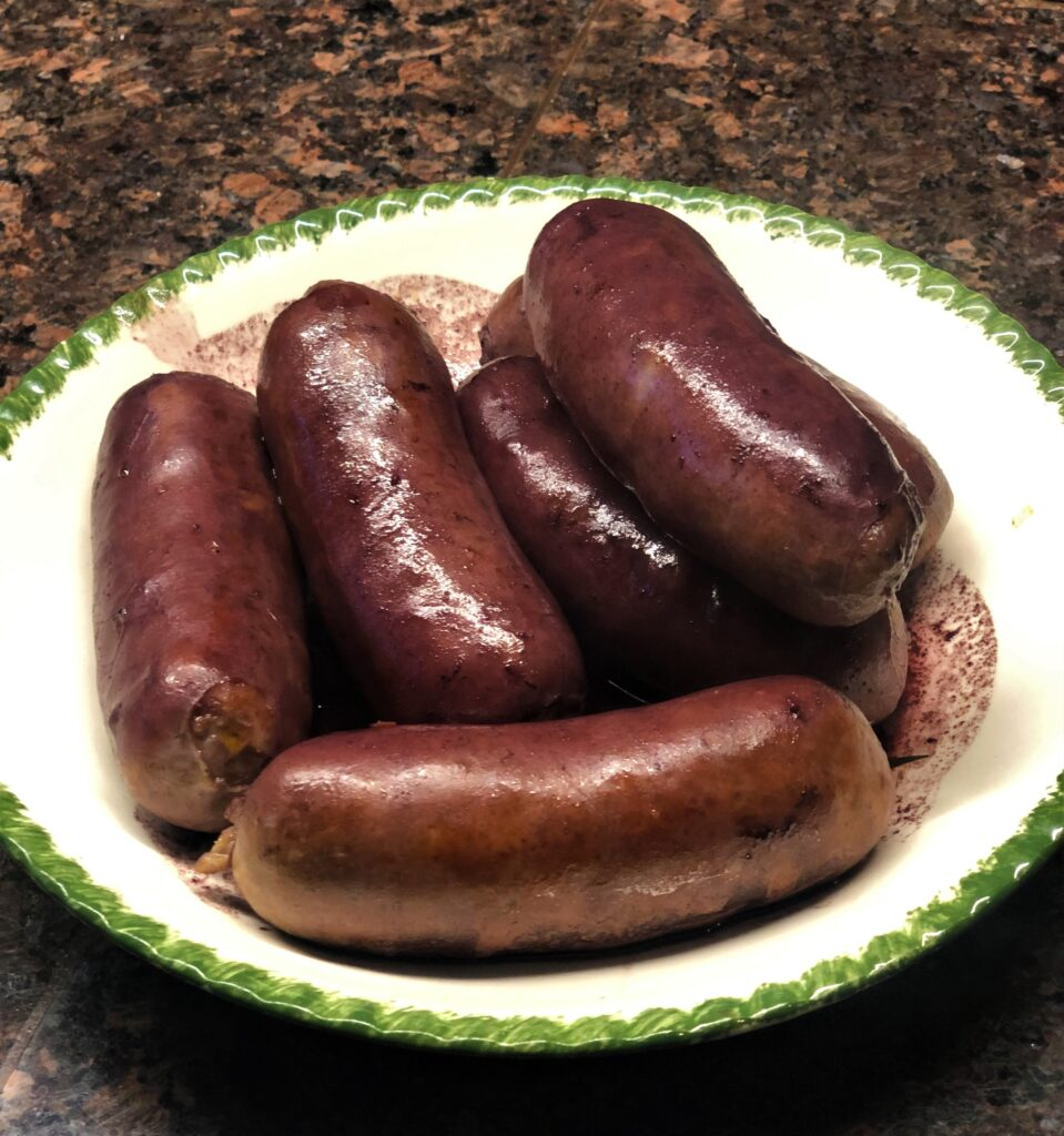 Sausage Cooked in Red Wine