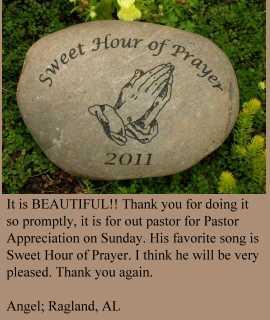 hour of prayer bible stone example
