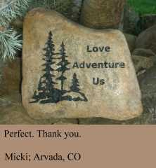 Love Adventures Us - Personalized Garden Stone