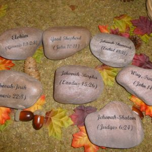 engraved signature rock bible quote 1420585242