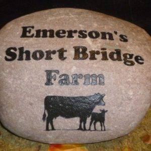large engraved businesscorporate river rock 1420929308