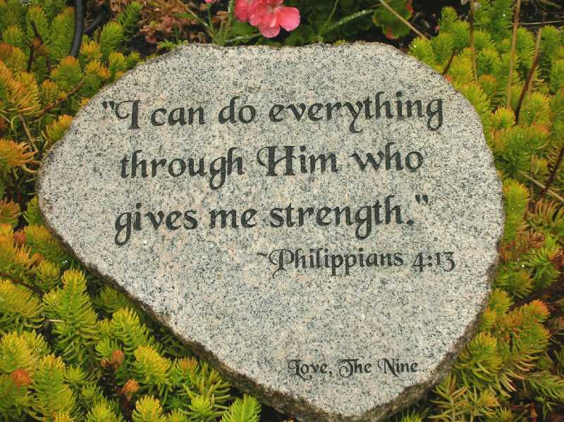 large engraved granite stone bible quotes 1399344578