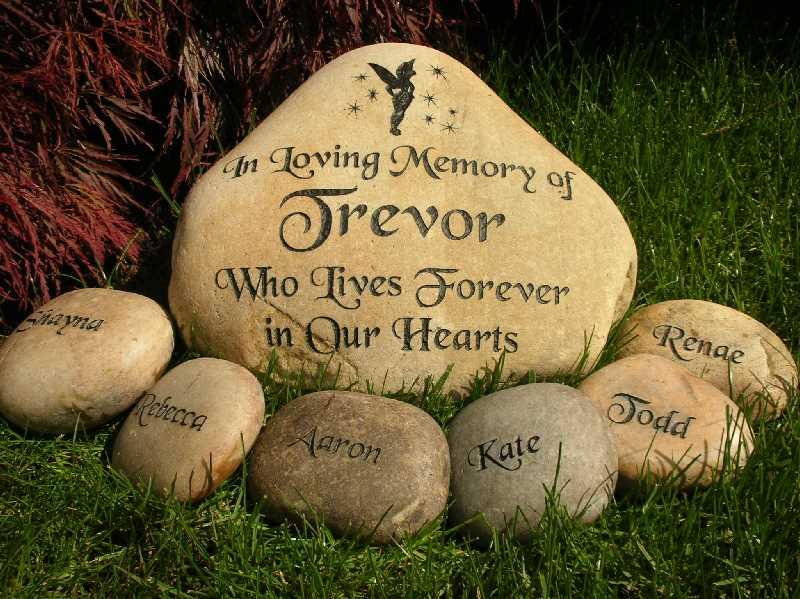 large engraved river rock memorial 1399340994