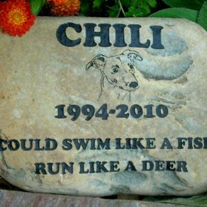 large engraved river rock pet marker 1399342586