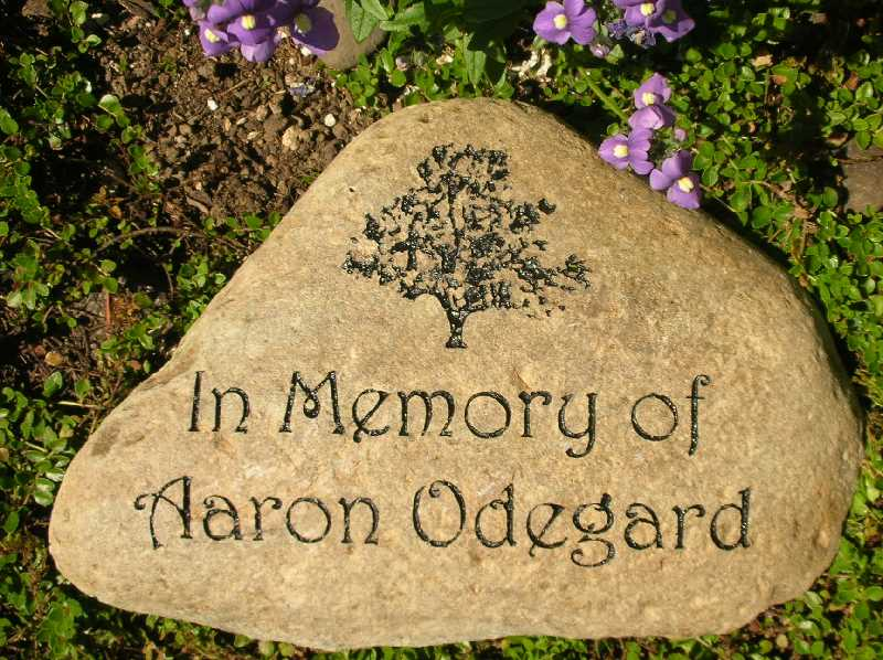 medium engraved river rock memorial 1399341121