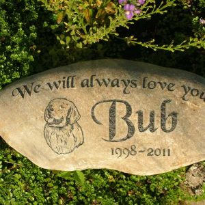 medium engraved river rock pet marker 1399342841