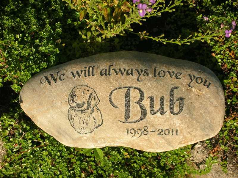 medium engraved river rock pet marker 1399342841