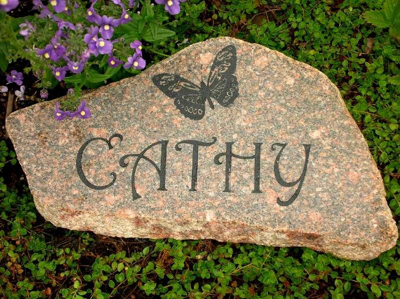small engraved granite stone memorial 1399342091