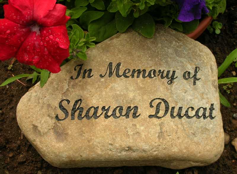 small engraved river rock memorial 1399341231