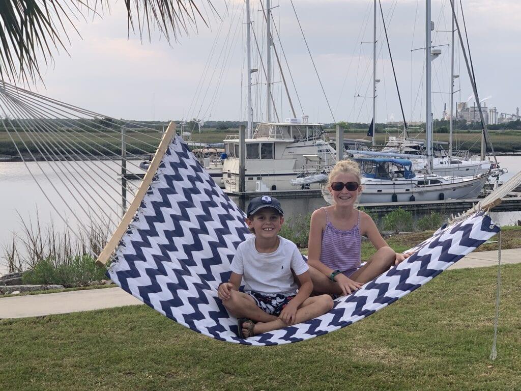 Two kiddos loving boat life.