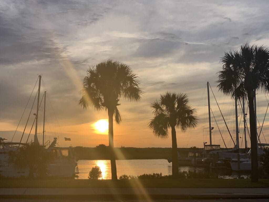 The Brunswick Landing Marina Sunset
