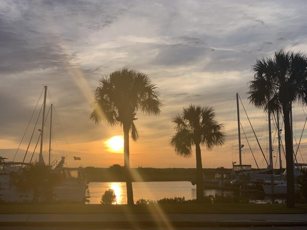 The Brunswick Landing Marina Sunset