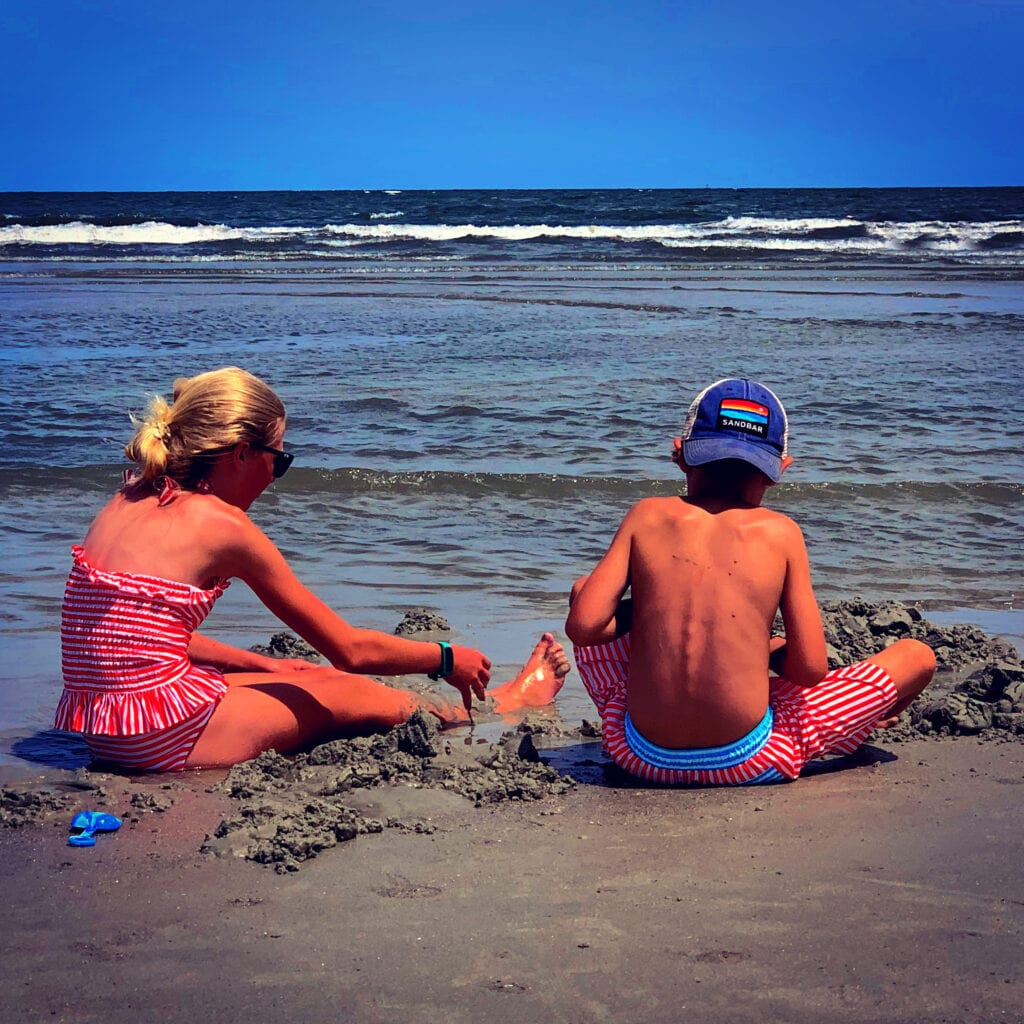 My kids are total beach bums.