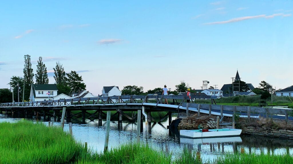 Tangier Island in the Middle of the Chesapeake Bay