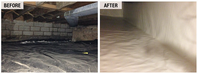 Crawlspace Repair Before And After