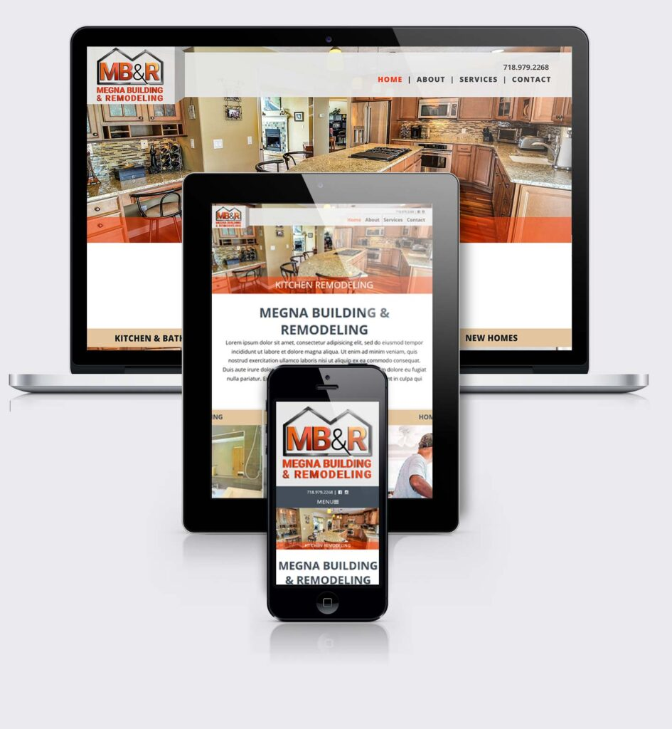 Case Study: Megna Building. Responsive website design