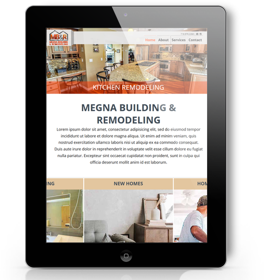 responsive website design tablet