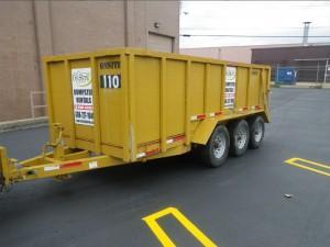 Dumpster Rental, Rubber Wheel Dumpster, Michigan Property Services