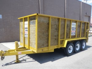 Dumpster Rental, Michigan Property Services, Rubber Wheel Dumpster