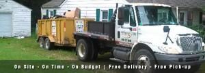 Michigan Property Services, Rubber Wheel Dumpster, Dumpster Rental