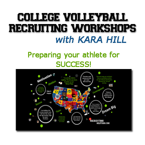 College Volleyball Recruiting Workshops with Kara Hill @ My Recruiting Solutions