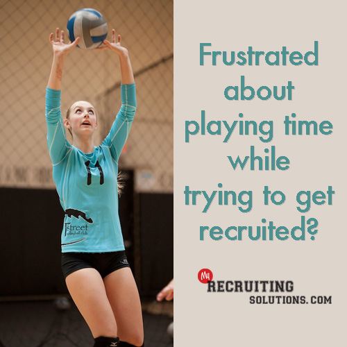 Frustrated Lack of Playing Time Getting Recruiting @ My Recruiting Solutions