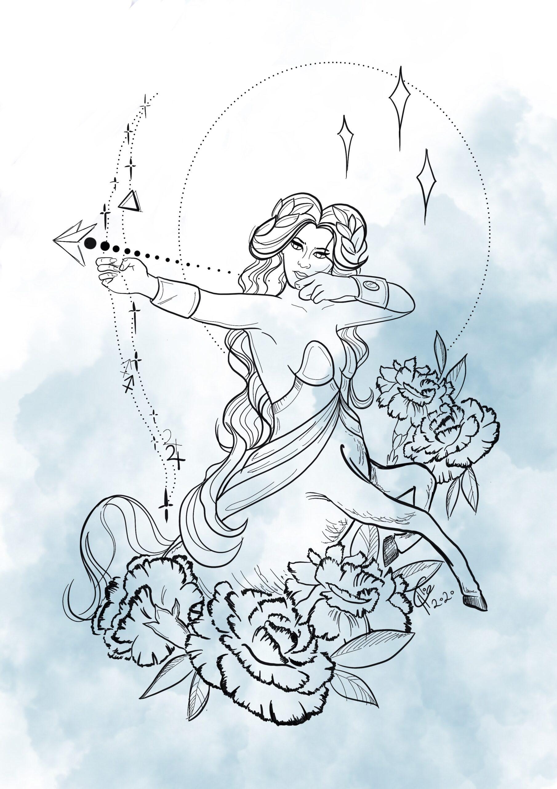 sagittarius zodiac print