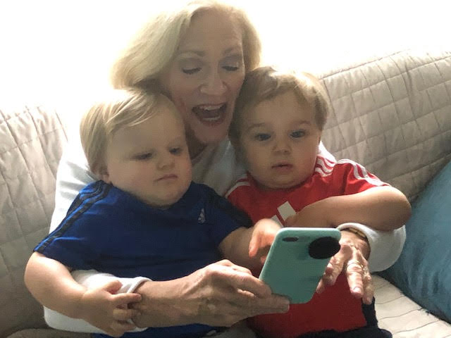 Alice Moore with twins