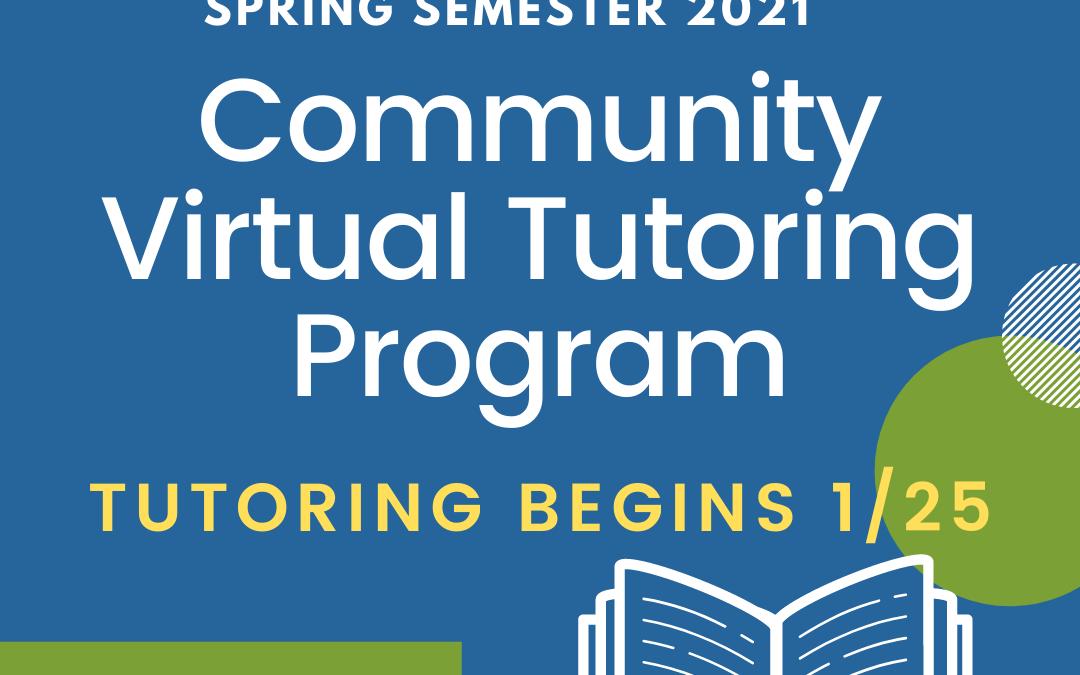 Registration is open for the virtual tutoring program