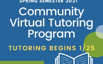 Registration is Open for 2021 Virtual Tutoring Program