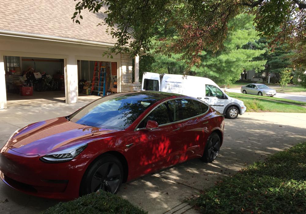Tesla Orange Home Charging Station