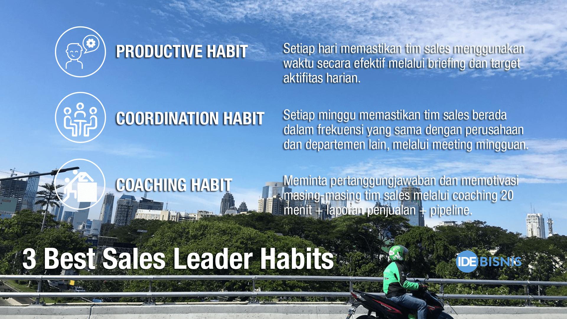 3 best sales leaders habit