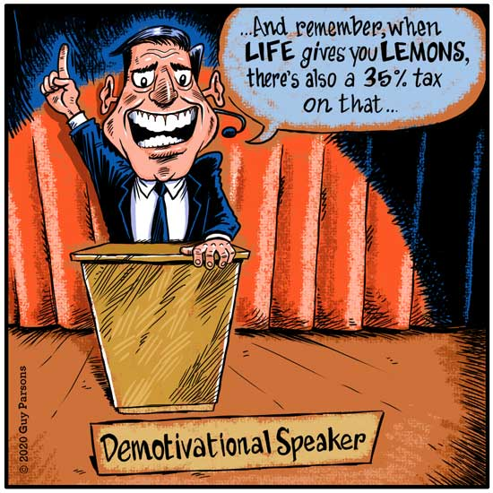 Motivational speaker cartoon