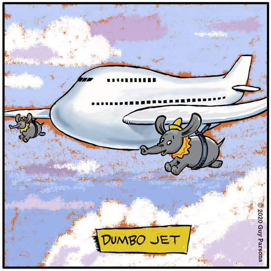 dumbo jet cartoon