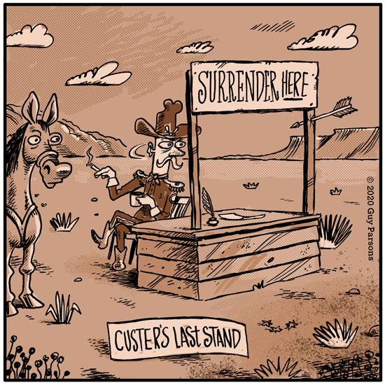 Custer's last stand cartoon