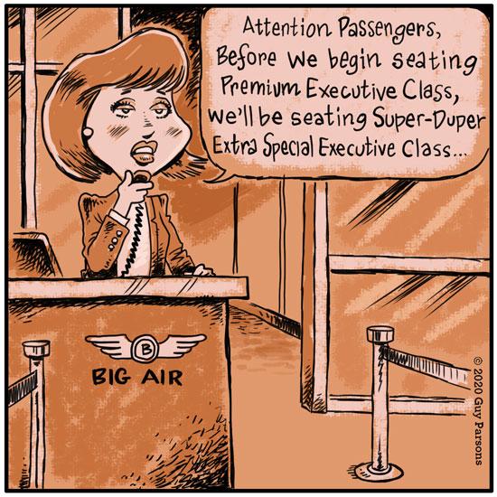 airline exclusivity comic