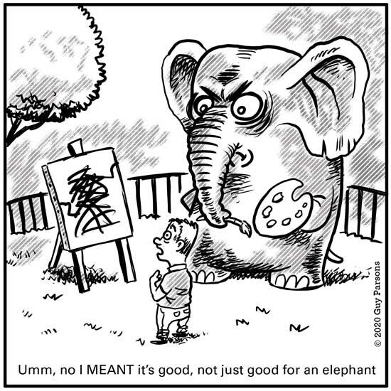 painting elephant cartoon