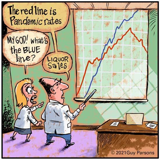 Pandemic rates cartoon