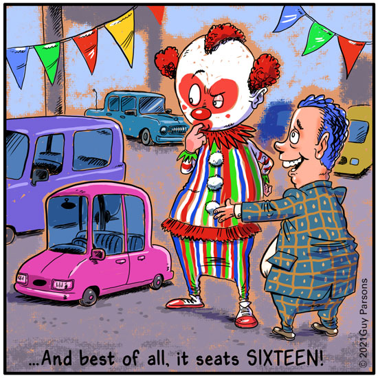 clown car cartoon