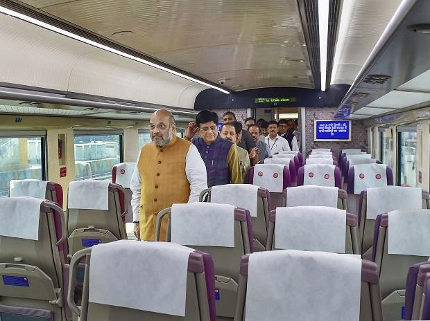 amit shah politician inside the train