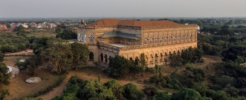 arial view of wadhwan state palace