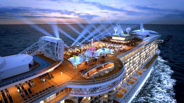 Princess Cruises at Night