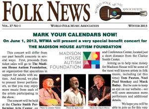 WFMA Folk News Clip Winter 2013