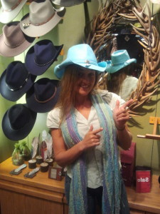 Desiree ready for her Texas Site Visit Adventures! We love her cowboy hat!