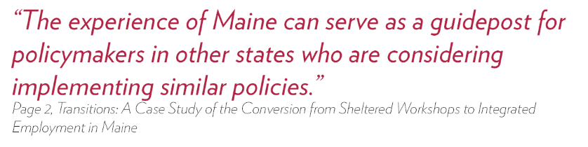 Experience of Maine can serve as a guidepost for policymakers